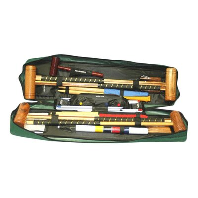 Garden Games Longworth 4 Player Croquet Set with a Tool Kit Bag