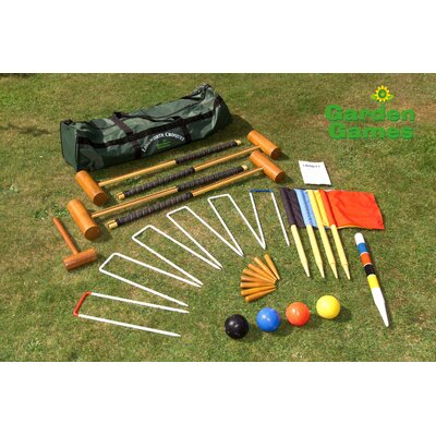 Garden Games Longworth 4 Player Croquet Set in a Bag