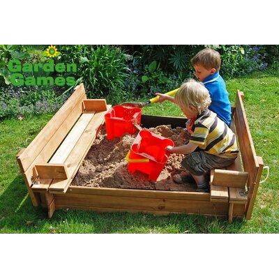 Garden Games 120cm Square Sandpit