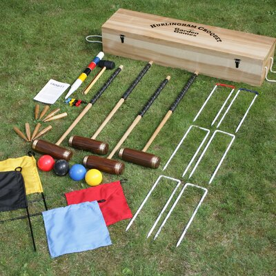 Garden Games Hurlingham 4 Player Croquet Set in a Box