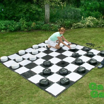 Garden Games Giant Draughts Set