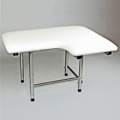 """Left Hand Padded Shower Seat Size: 28"""" x 21"""""""