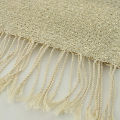 Fouta Honeycomb Natural Hand Towel Color: Beige/Gold