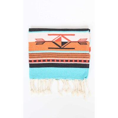 Boho 100% Cotton Hand Towel (Set of 2) Color: Orange/Turquoise