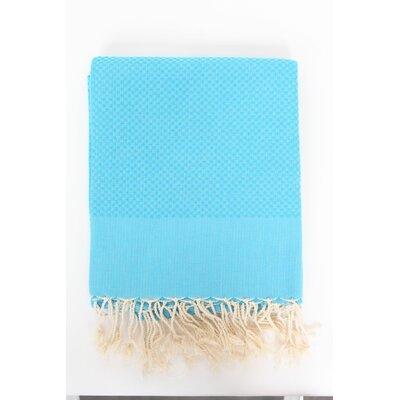 Veedersburg Honeycomb 100% Cotton Bath Towel Color: Turquoise