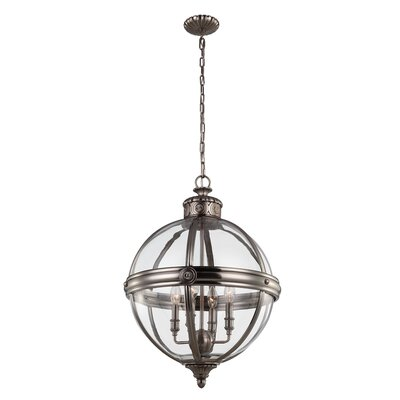 Feiss Adams 4 Light Globe Pendant