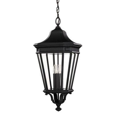 Feiss Cotswold Lane Flush Ceiling Mount 3 Light Hanging Lantern