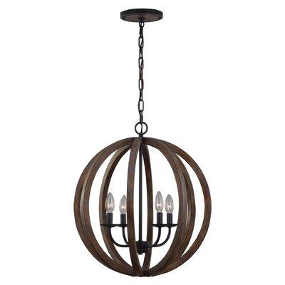 Feiss Allier 4 Light Globe Pendant