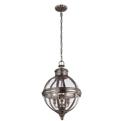 Feiss Adams 3 Light Globe Pendant