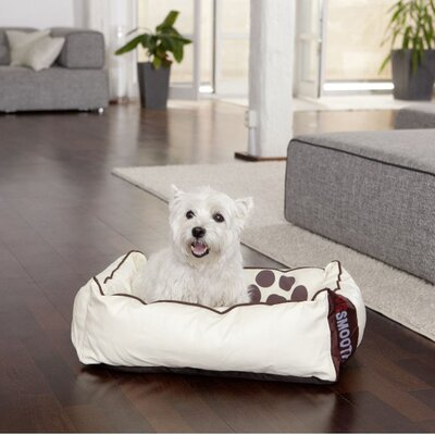 Smoothy Hundebett Leder in Beige