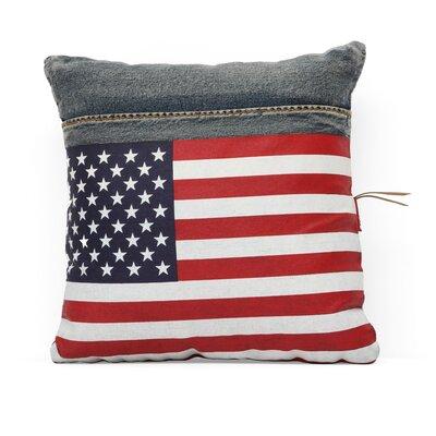 Zuo Era Cowboy Denim USA Flag Throw Pillow