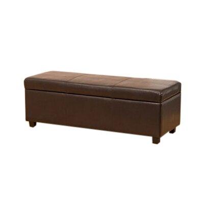 Global Furniture Direct Leather Storage Ottoman