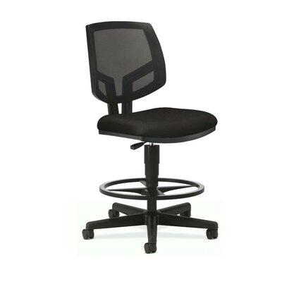 Volt Series Mesh Drafting Chair Upholstery: Black