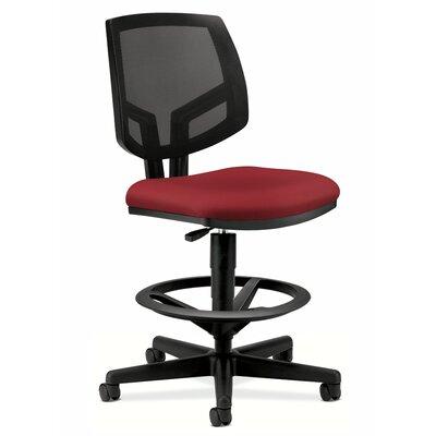 Volt Series Mesh Drafting Chair Upholstery: Crimson