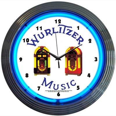 "Neonetics 15"" Wurlitzer Jukebox Wall Clock"