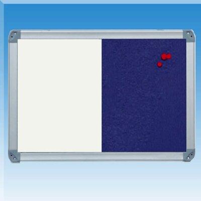 Golden Panda, Inc. Felt Note Wall Mounted Combination Whiteboard