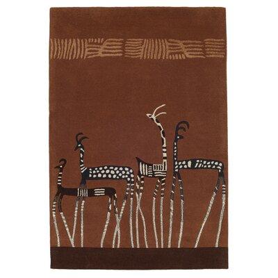 Husain International Kalahari Hand-Tufted Brown Area Rug