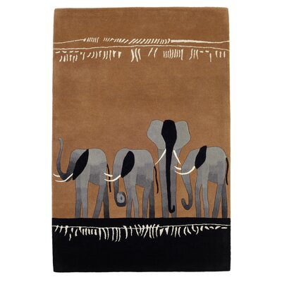 Husain International Kalahari Hand-Tufted Brown Area Rug