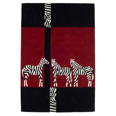 Husain International Kalahari Hand-Tufted Black Area Rug