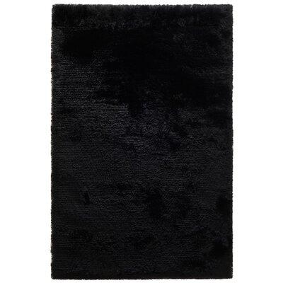 Husain International Dance Hand-Woven Black Area Rug