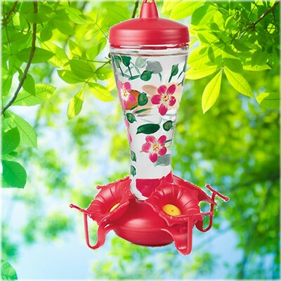 Hand Painted Hummingbird Feeder