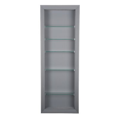 "Newberry 14"" W x 42"" H Recessed Shelving Finish: Primed"