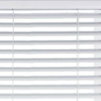 "Room Darkening White Horizontal/Venetian Blind Blind Size: 24"" W x 60"" L"