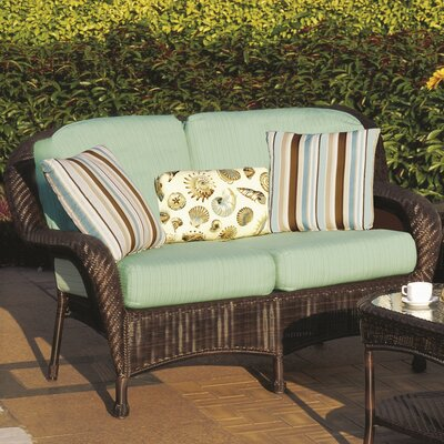 Emestine Key West Loveseat with Cushions Color: Canvas