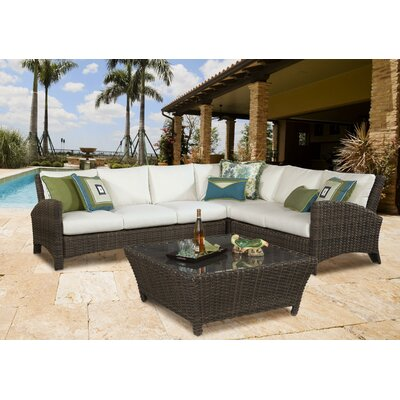 Sousa Sectional with Cushion Color: Sand