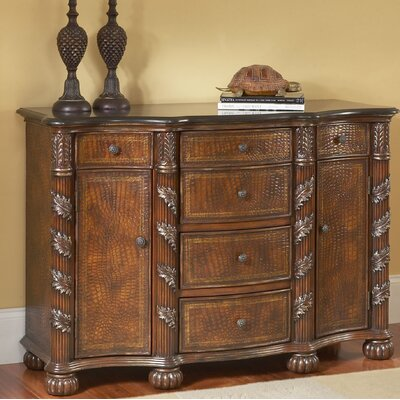Spillman 2 Door 6 Drawer Accent Cabinet