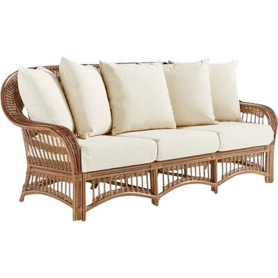 Staats Sofa with Cushions Frame Color: Pecan, Cushion Color: Alero Ice