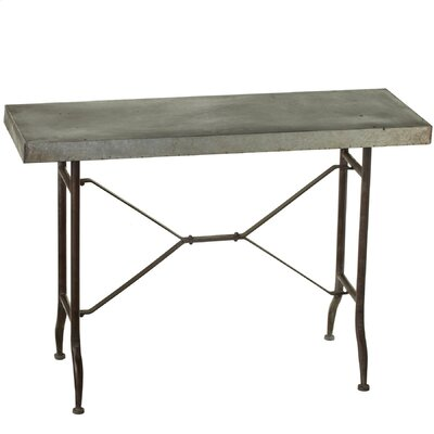 Haddon Galvanized Console Table