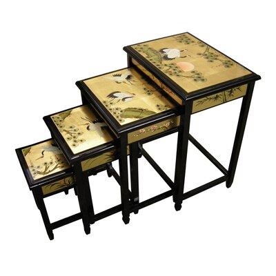 Grand International Decor Gold Leaf 4 Piece Nest of Tables