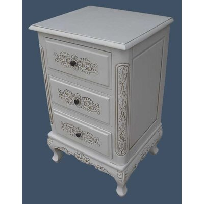 Grand International Decor French Style 3 Drawer Chest of Drawers