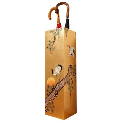 Grand International Decor Gold Leaf Crane Umbrella Stand