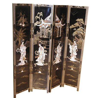 Grand International Decor 183cm x 183cm Mother of Pearl 4 Panel Room Divider