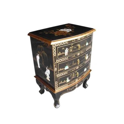 Grand International Decor Mother of Pearl 3 Drawer Chest of Drawers
