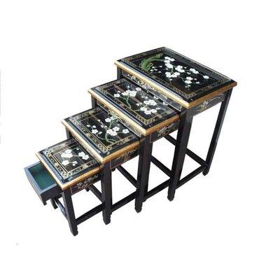 Grand International Decor Blossom 4 Piece Nest of Tables