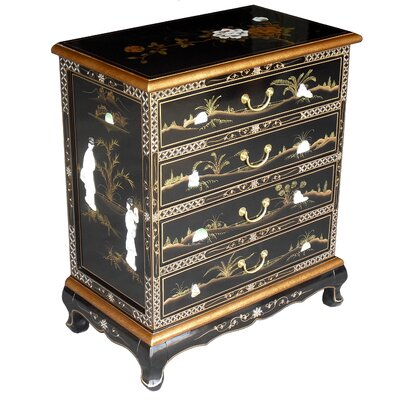 Grand International Decor Mother of Pearl 4 Drawer Chest