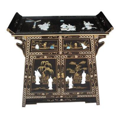 Grand International Decor Mother of Pearl 2 Door 2 Drawer Cabinet