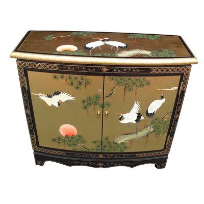 Grand International Decor Gold Leaf 2 Door Cabinet