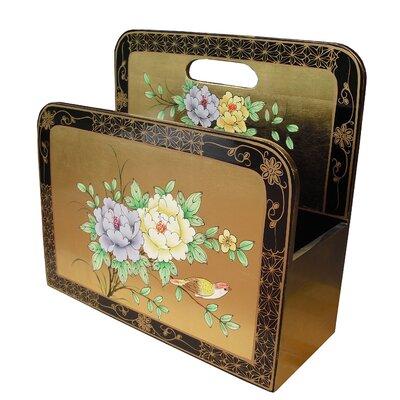 Grand International Decor Gold Leaf Floral Magazine Rack