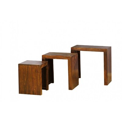 Möbelkultura 3-tlg. Satztisch-Set Cube