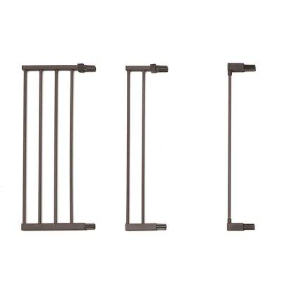 "Steel Pet Gate Extension Size: 29"" H x 11"" W x 1"" D, Finish: Graphite"