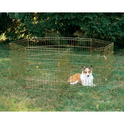 8 Panel Exercise Dog Pen With Latch Door Access