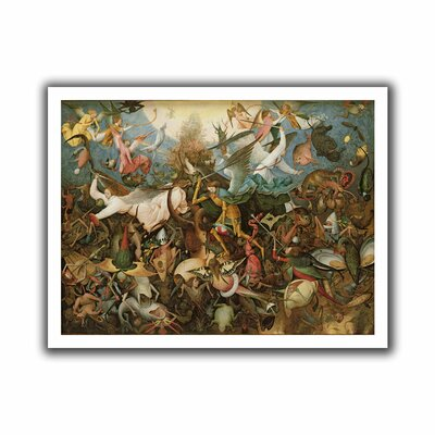 ArtWall 'The Fall of the Rebel Angels' by Pieter Bruegel Painting Print on Canvas