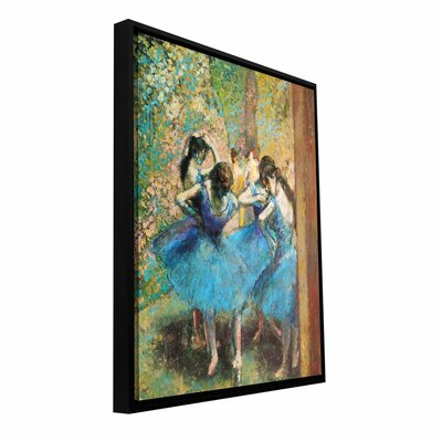 ArtWall 'Dancers in Blue' by Edgar Degas Framed Painting Print on Wrapped Canvas