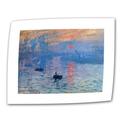 """ArtWall """"Sunrise"""" by Claude Monet Painting Print on Canvas"""