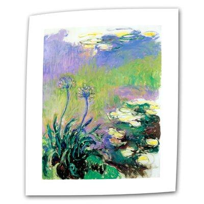 """ArtWall """"Agapanthus"""" by Claude Monet Painting Print on Canvas"""