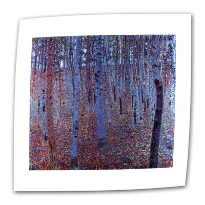 """ArtWall """"Beech Forest"""" by Gustav Klimt Painting Print on Canvas"""